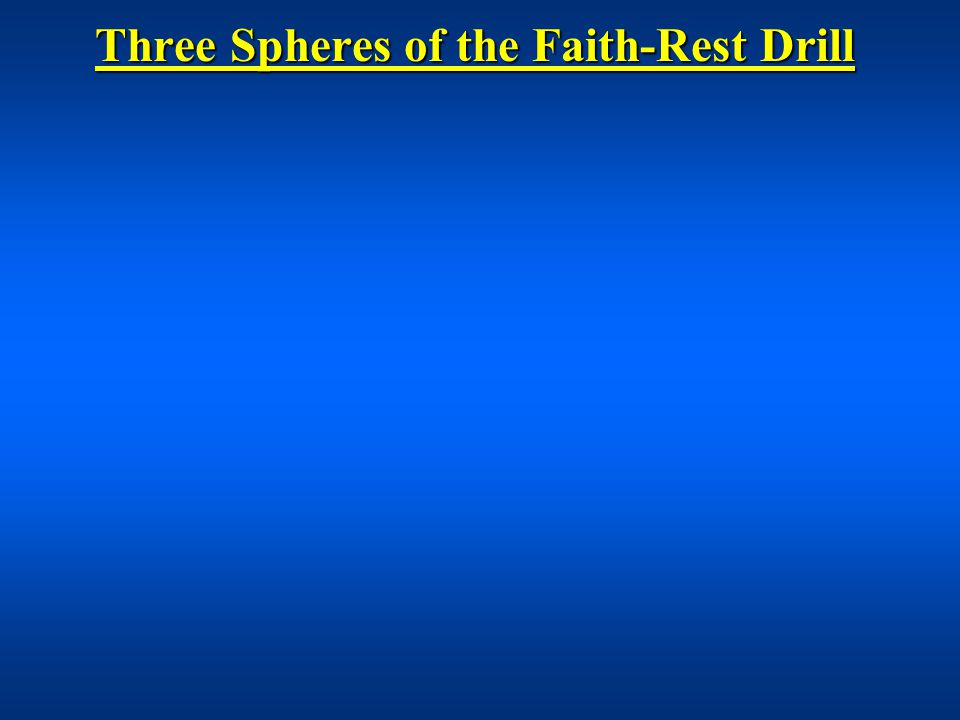 Three Spheres of the Faith-Rest Drill