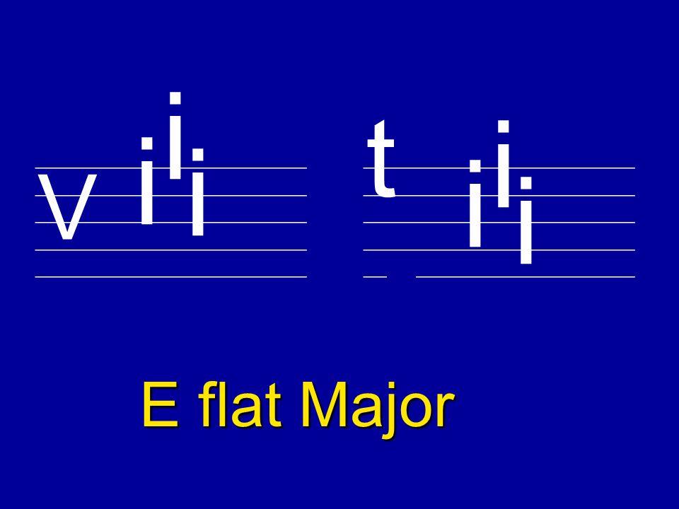 ________________________ V t B flat Major i ________________________ i i i