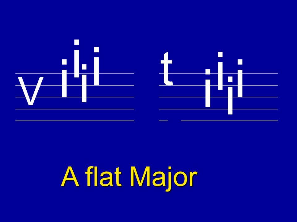 V t E flat Major i i i i i i