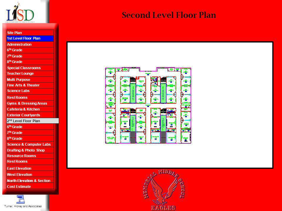 Second Level Floor Plan Turner, Hickey and Associates Site Plan 1st Level Floor Plan Administration 6 th Grade 7 th Grade 8 th Grade Special Classroom