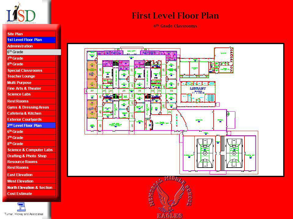 First Level Floor Plan 6 th 6 th Grade Classrooms ADMIN.