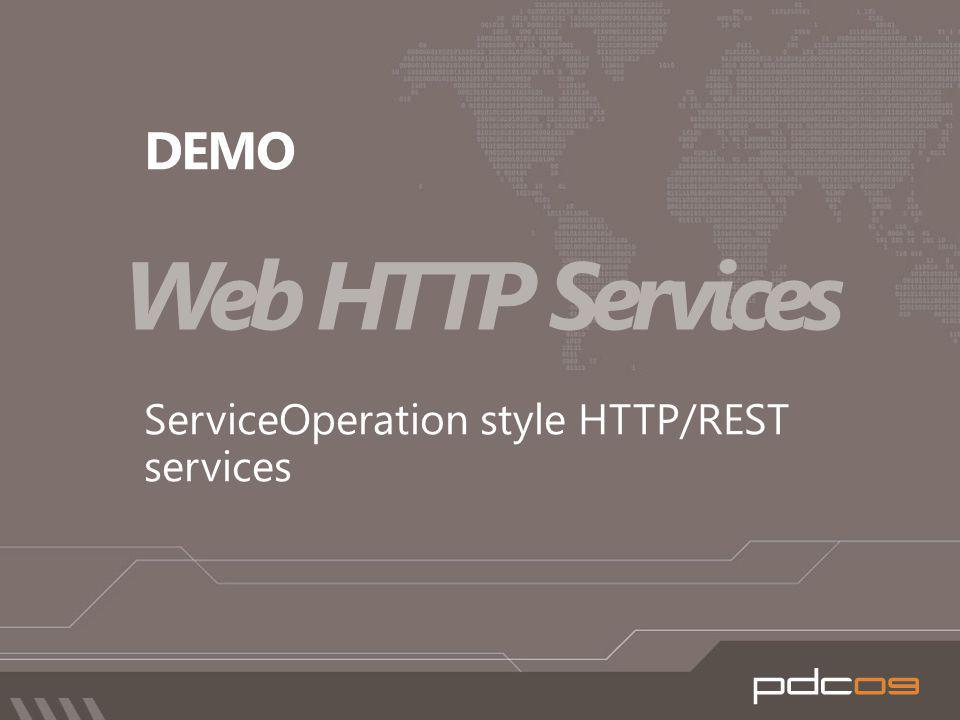 Web HTTP Services