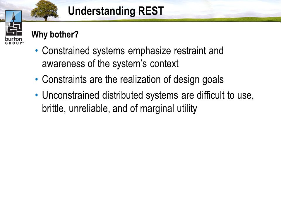 Understanding REST Why bother.