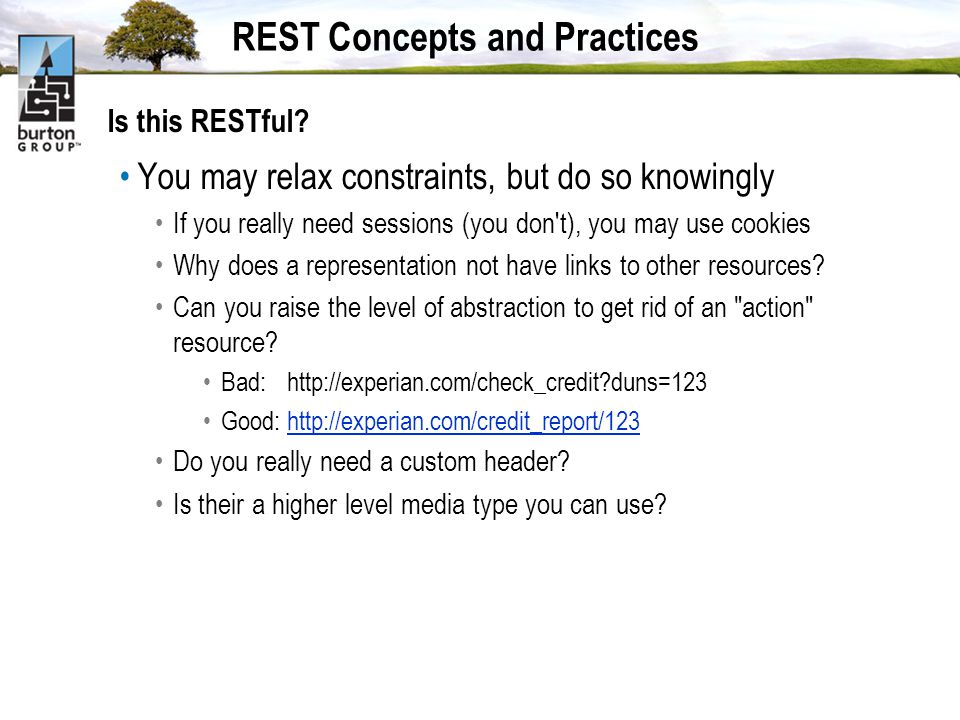 REST Concepts and Practices Is this RESTful.