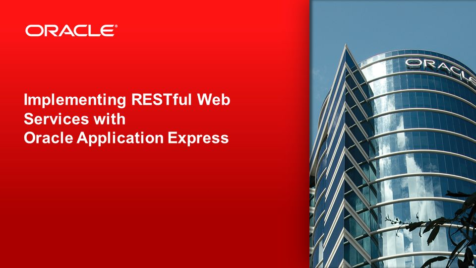 2 Implementing RESTful Web Services with Oracle Application Express
