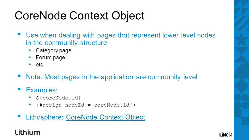 Use when dealing with pages that represent lower level nodes in the community structure Category page Forum page etc.