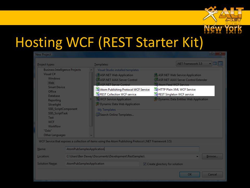 Hosting WCF (REST Starter Kit)