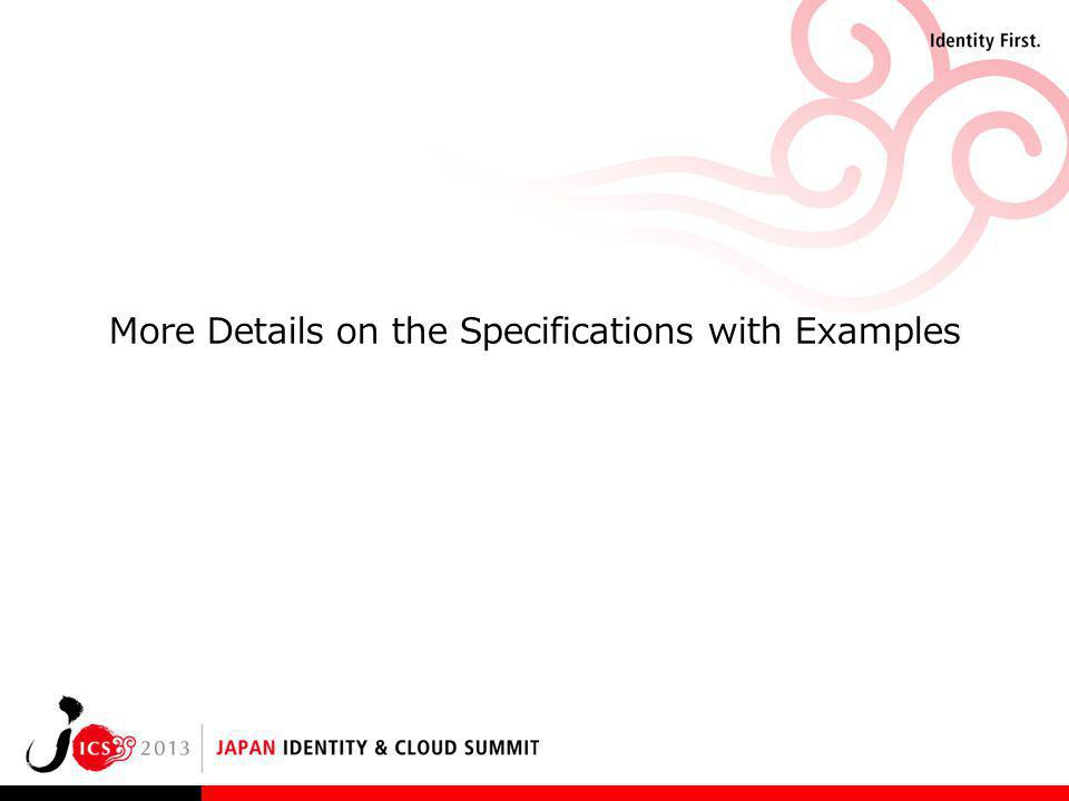 More Details on the Specifications with Examples