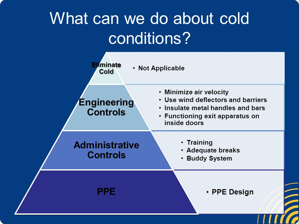 What can we do about cold conditions.