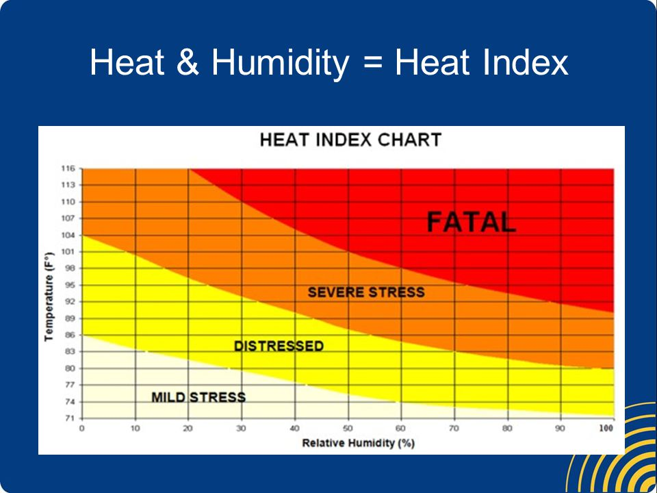 Heat & Humidity = Heat Index
