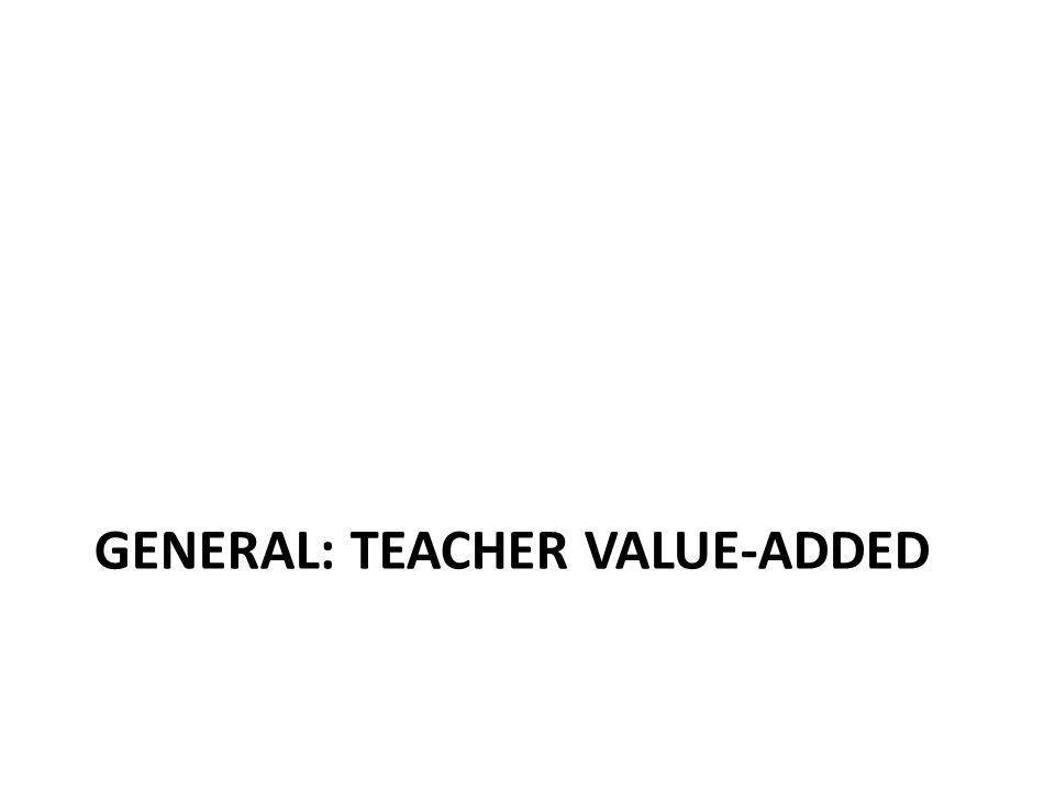GENERAL: TEACHER VALUE-ADDED