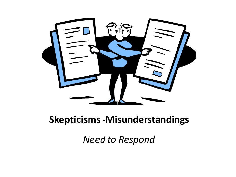 Skepticisms -Misunderstandings Need to Respond