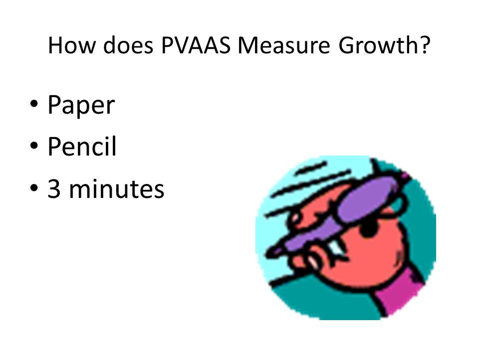 How does PVAAS Measure Growth? Share with a Partner 2 minutes EACH Large Group Report Out