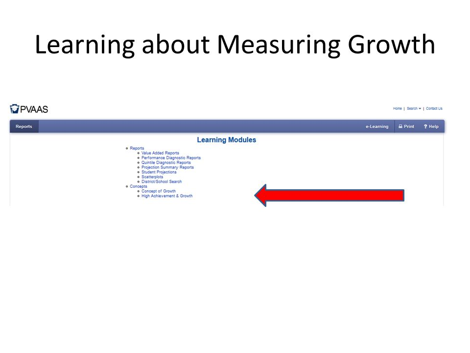 Learning about Measuring Growth