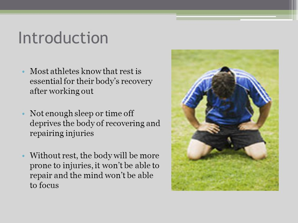 Overview Introduction Why it is essential Positive and negative effects Adaptation Overtraining Long and short-term 10 ways to quickly recover Conclusion Credentials