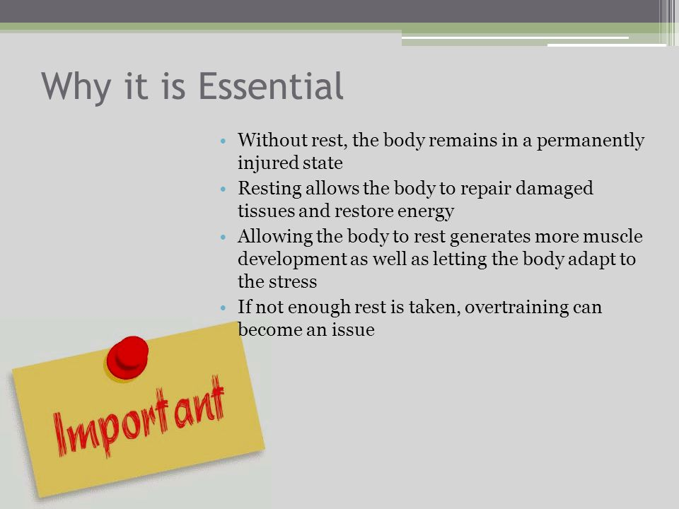 Introduction Most athletes know that rest is essential for their bodys recovery after working out Not enough sleep or time off deprives the body of re