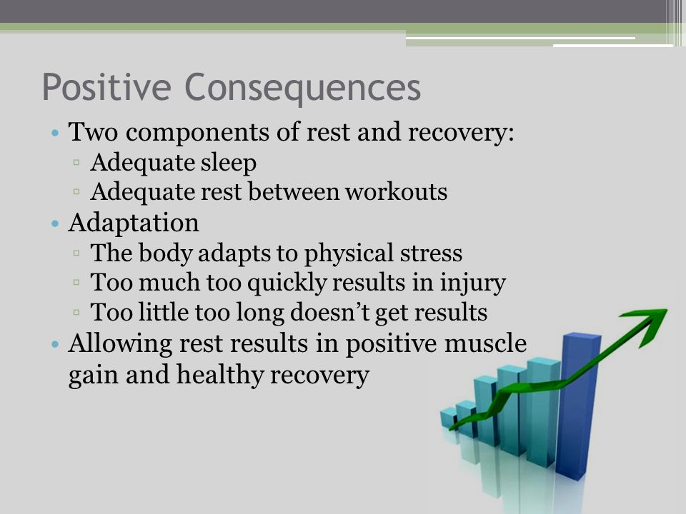 Why it is Essential Without rest, the body remains in a permanently injured state Resting allows the body to repair damaged tissues and restore energy