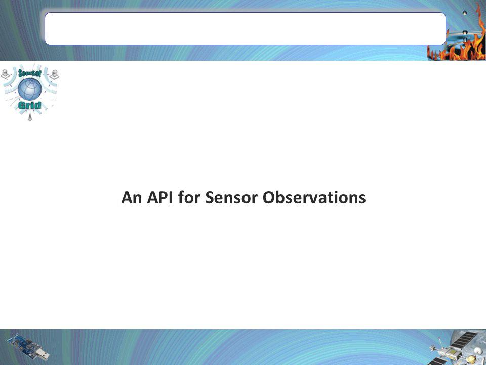 An API for Sensor Observations
