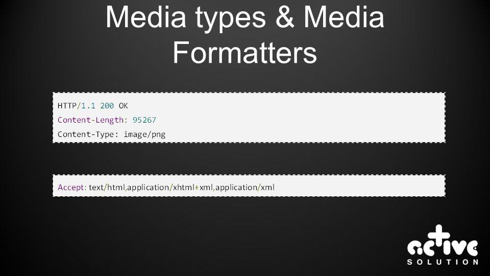 Media types & Media Formatters