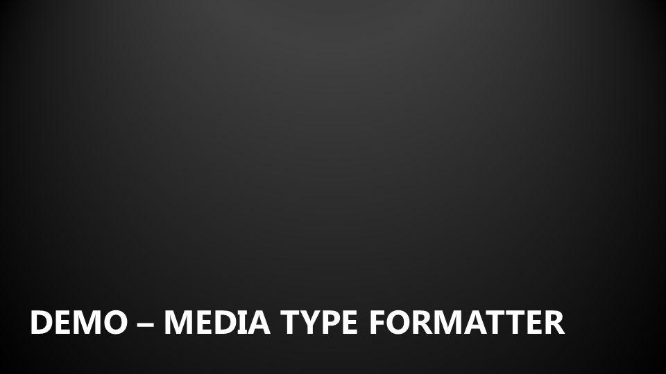 DEMO – MEDIA TYPE FORMATTER