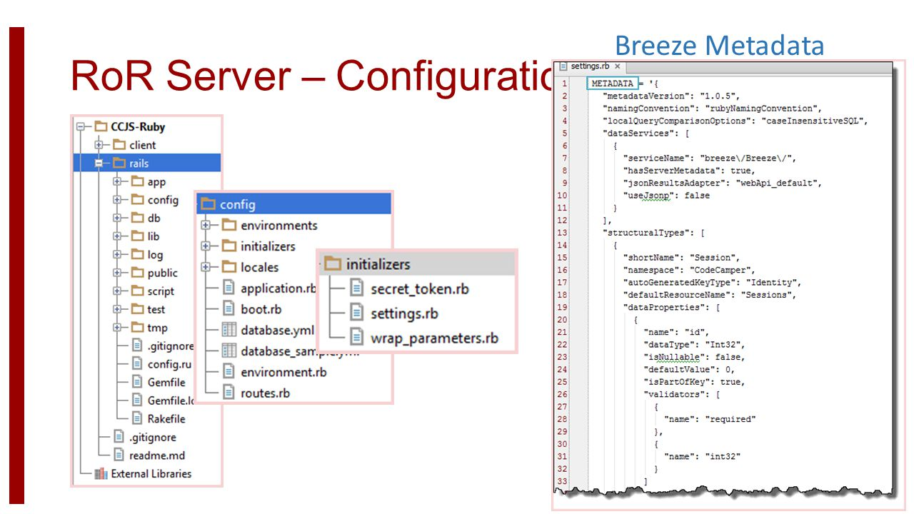 RoR Server – Configuration Breeze Metadata