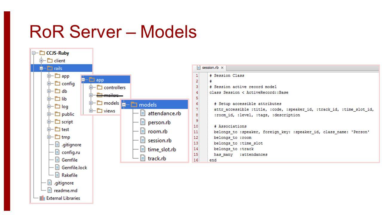 RoR Server – Models