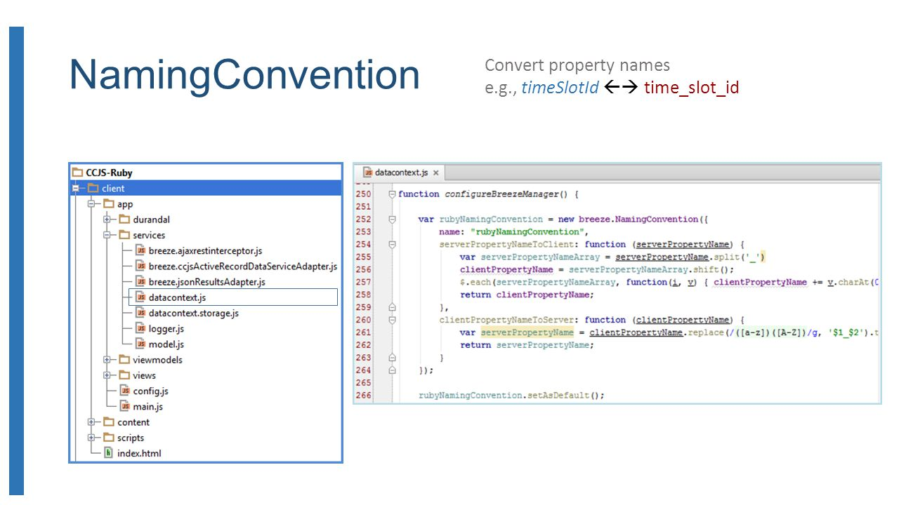 NamingConvention Convert property names e.g., timeSlotId time_slot_id