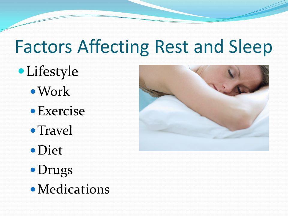 Factors Affecting Rest & Sleep Comfort Anxiety Environment