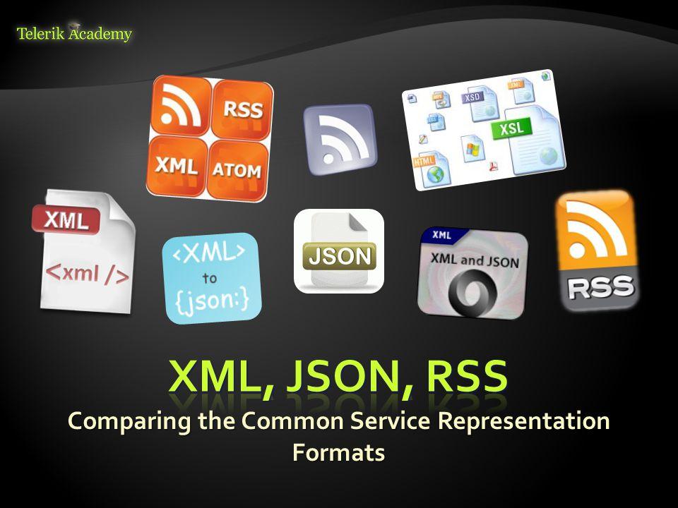 Comparing the Common Service Representation Formats