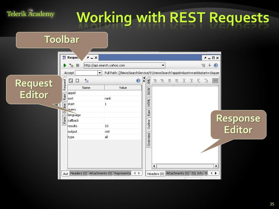 35 Toolbar RequestEditor ResponseEditor