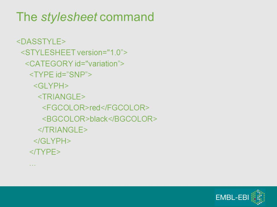 The stylesheet command red black...