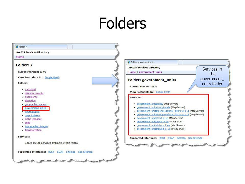 Folders Services in the government_ units folder