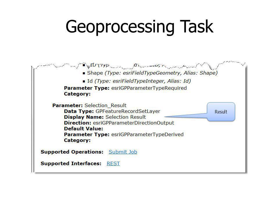 Geoprocessing Task Result