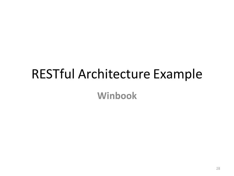 RESTful Architecture Example Winbook 28