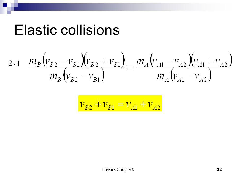 Elastic collisions 2 2 2 21Physics Chapter 8