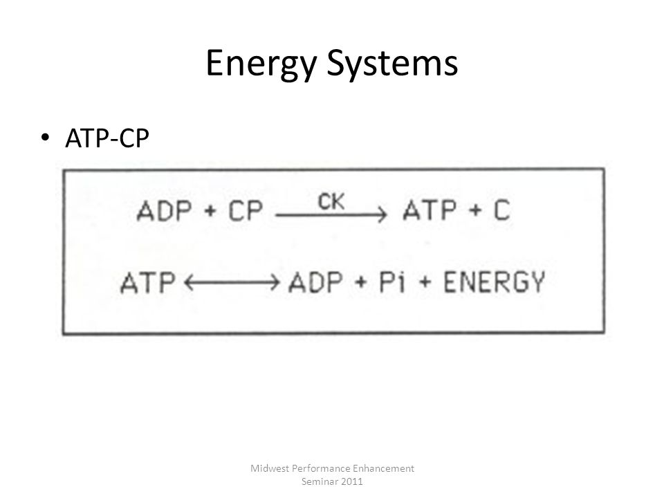 Energy Systems ATP-CP Midwest Performance Enhancement Seminar 2011