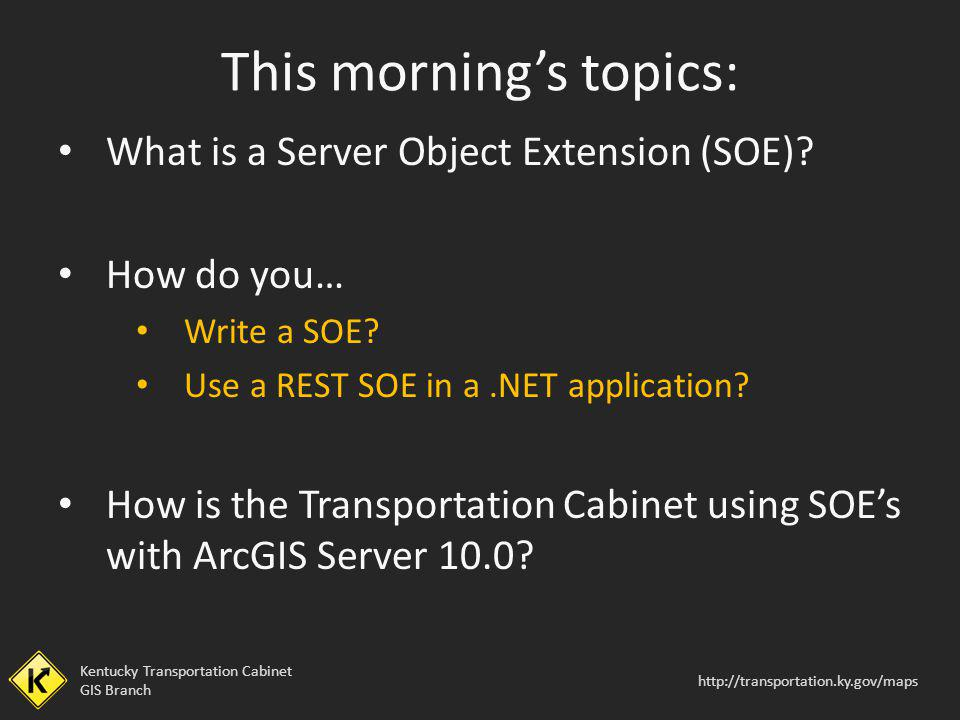 Using SOEs in a.NET Application
