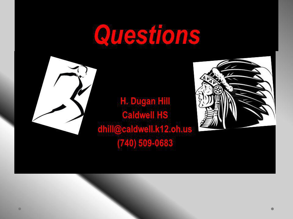 Questions H. Dugan Hill Caldwell HS dhill@caldwell.k12.oh.us (740) 509-0683