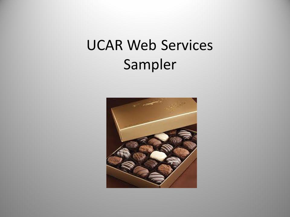 UCAR Web Services Sampler
