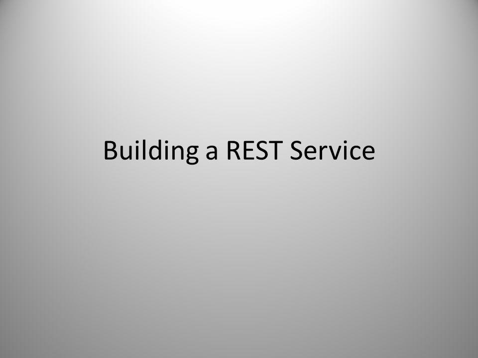 Building a REST Service