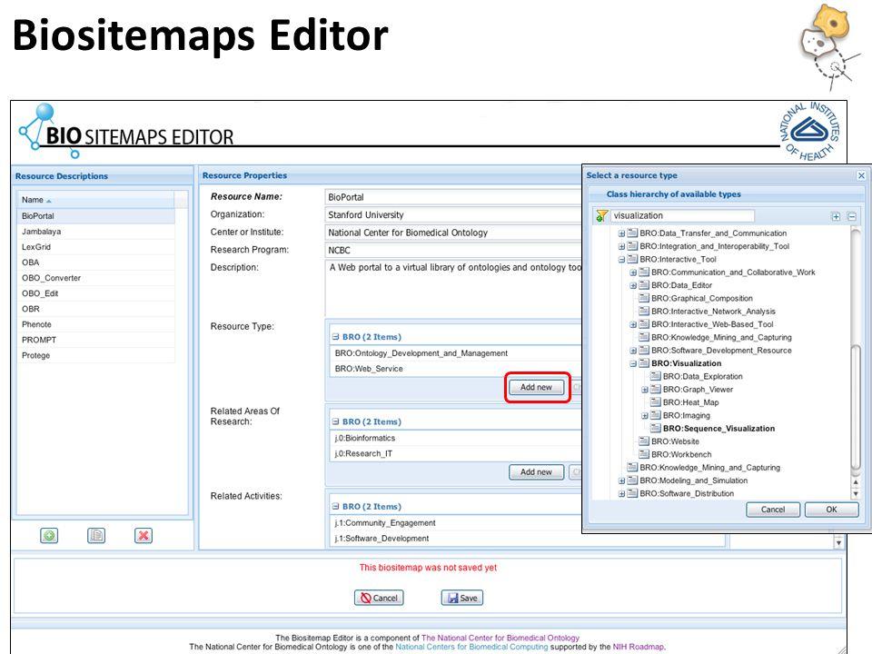 Biositemaps Editor