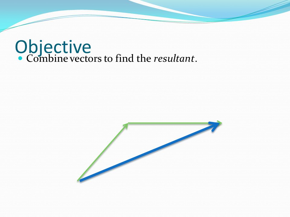 Vector A quantity that shows magnitude and direction Best represented with arrows Same direction, half the magnitude 6 3 6 Same magnitude, different direction 6
