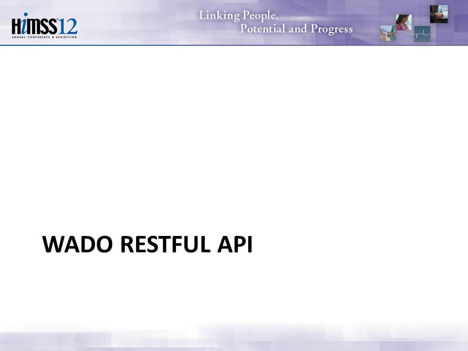 WADO RESTFUL API