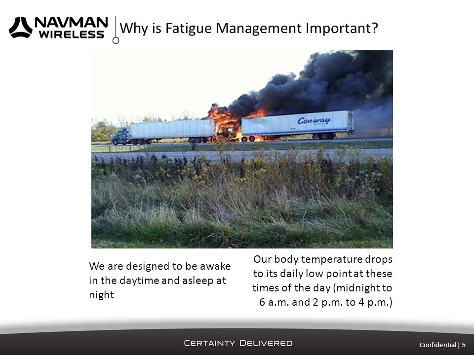Confidential | 6 Why is Fatigue Management Important.