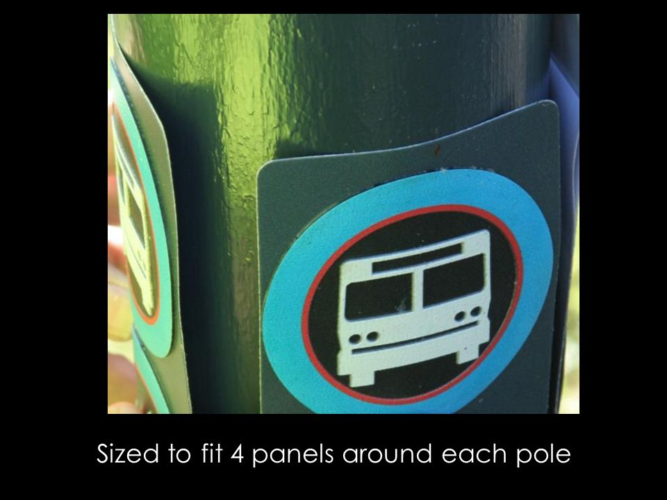 Sized to fit 4 panels around each pole
