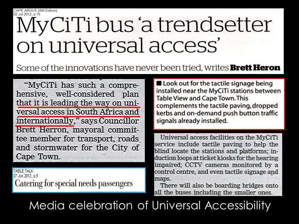 Media celebration of Universal Accessibility