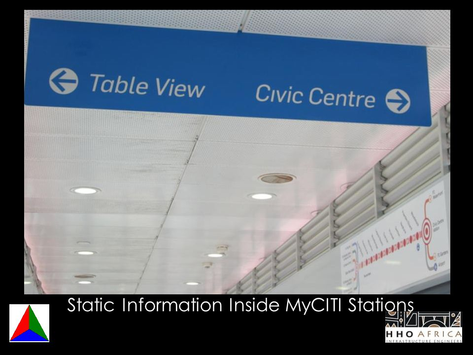 Static Information Inside MyCITI Stations