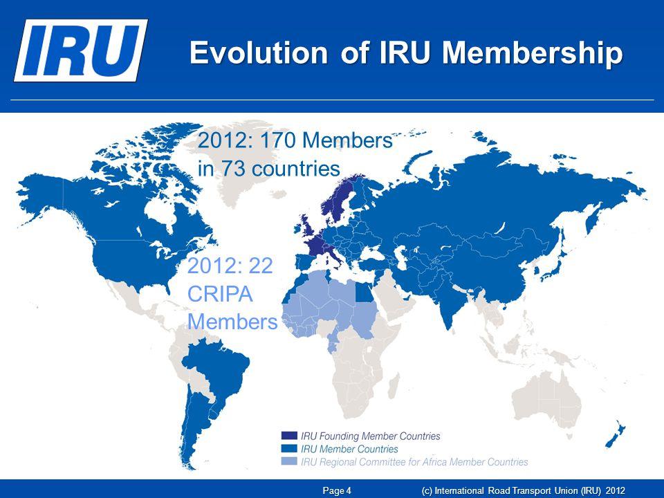 The EU Enforcement Problem A COMMON PURPOSE & REGULATORY FRAMEWORK BUT A FRAGMENTED ENFORCEMENT SPACE (c) International Road Transport Union (IRU) 2012 Page 15