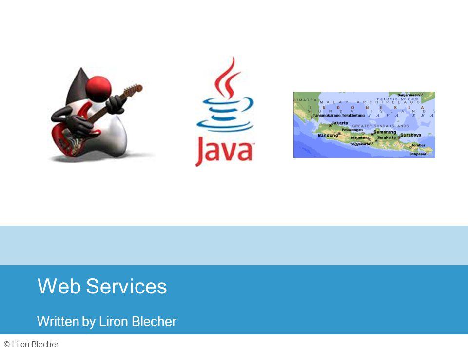 © Liron Blecher Web Services Written by Liron Blecher