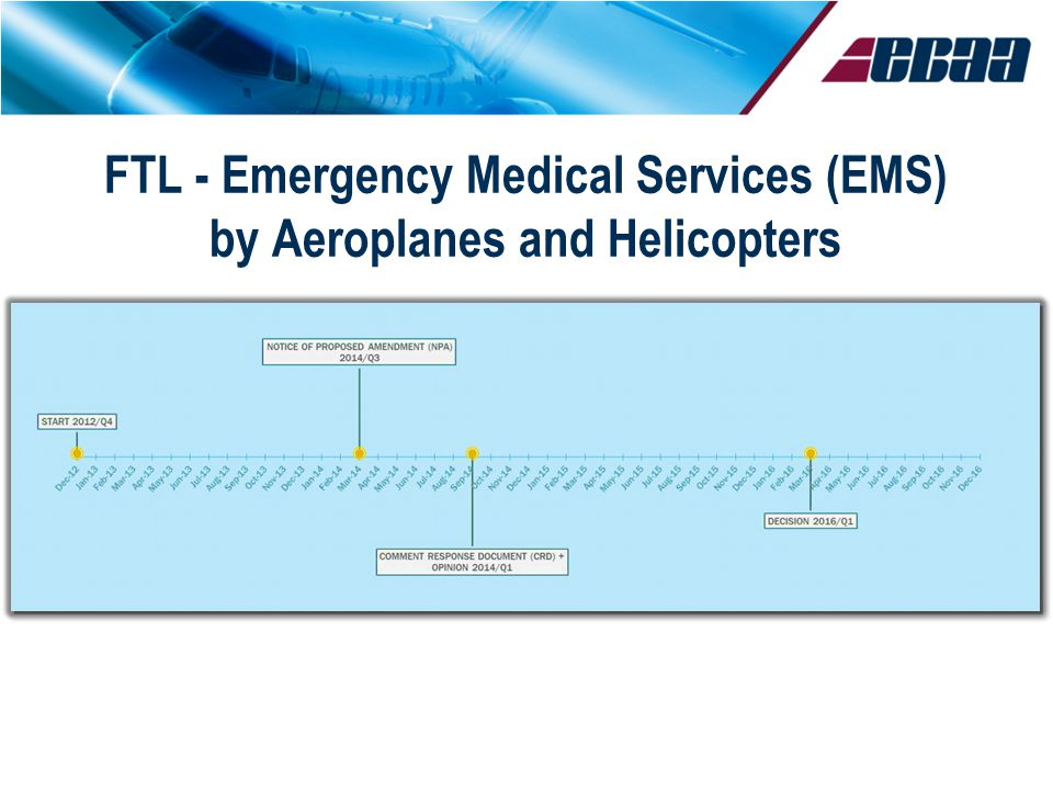 © EBAA FTL - Emergency Medical Services (EMS) by Aeroplanes and Helicopters